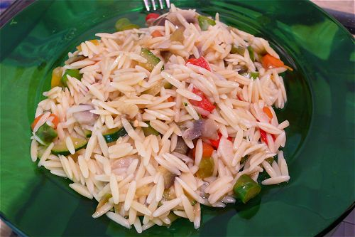 Orzo with vegetables